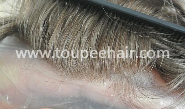 Super Thin Skin Invisible Toupee Customized All V Looped