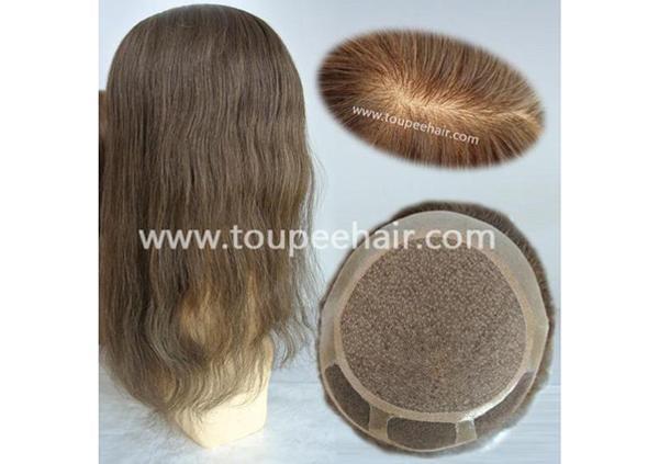 Silk top women hairpieces
