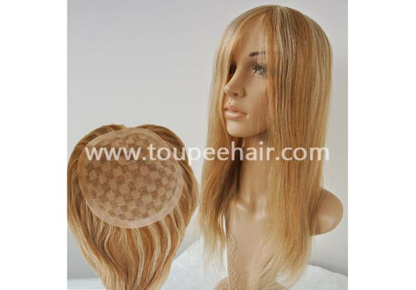 Women blonde color hair systems